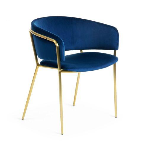 Kave Home - Runnie Sessel, blauer Samt