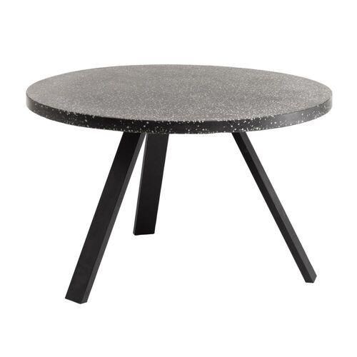 Kave Home - Shanelle schwarzer Tisch Ø 120 cm