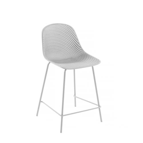 Kave Home - Weisser Quinby Hocker Höhe 75 cm