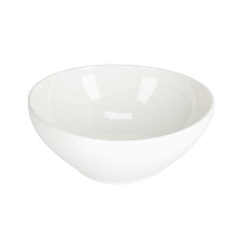 Kave Home - Pahi große runde Porzellanschale in weiß