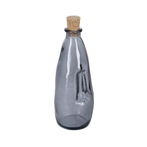 Kave Home - Rohan blaue Glasflasche