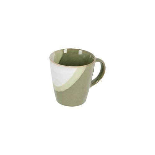 Kave Home - Naara Tasse, weiss und grün