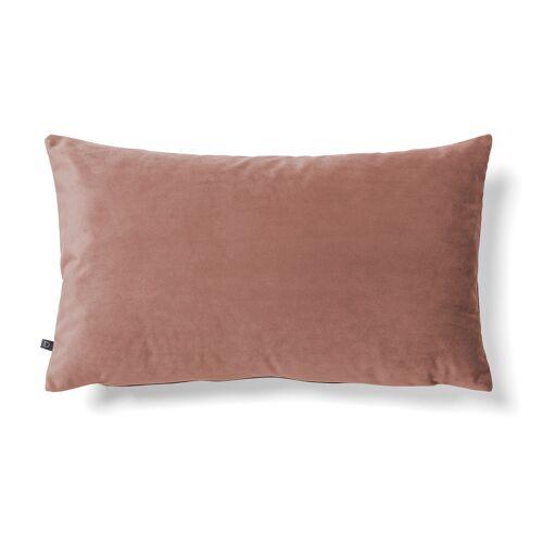 Kave Home - Lita Kissenbezug 30 x 50 cm, rosa Samt