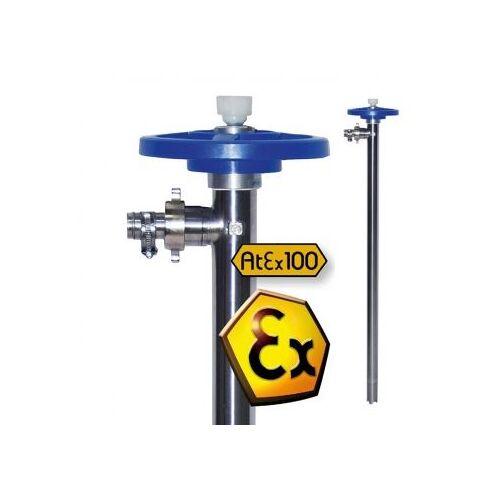 Jessberger Pumpwerk aus Edelstahl mit Gleitringdichtung Ø 41 mm, Tauchrohrlänge 700mm Jessberger