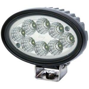 Hella 1GA 996 761-011 Arbeitsscheinwerfer Oval 100 LED Gen. II für weitreichende Ausleuchtung, Anbau, 12V/24V Hella 1GA 996 761-011