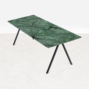 Aime Té Rechteckiger Marmor-Esstisch, Marmortisch - Verde Guatemala Grün (V-Gestell) - 240 x 80 cm