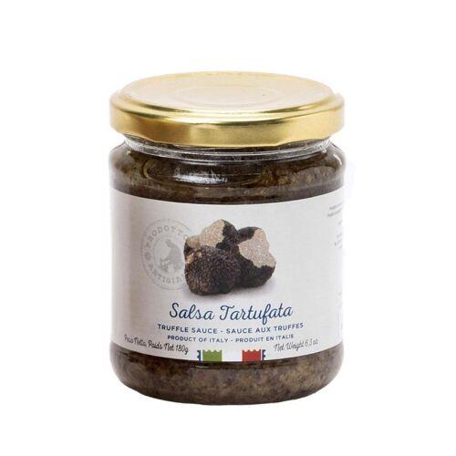 Maestri Artigiani Italiani S.r.l Salsa Tartufata, Sauce mit Pilzen und Trüffeln, 180 g - M...