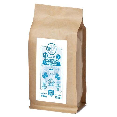 Caffè Europa Koffeinfreie Bio-Kaffeebohnen, 100% Arabica, 500 g - Caffè Europa