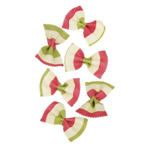 Marabotto Schmetterlingsnudeln in den Farben der Italienischen Flag...