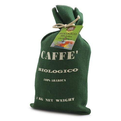 Caffè Europa Kaffee Bio, 100% Arabica, Kaffeebohnen, 1 kg in Jutesack ...