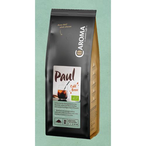 Caroma Caffe Paul, 100% Arabica, COLD BREW Kaffee Bio, 250g, gemahlen - Caroma