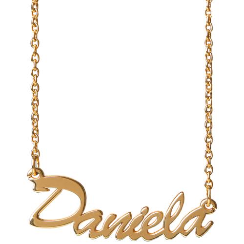MyPulsera 925er echtsilber namenskette - gold - schriftart daniela