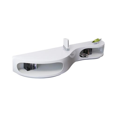 SalesFever Lowboard 200 x 50 cm weiß
