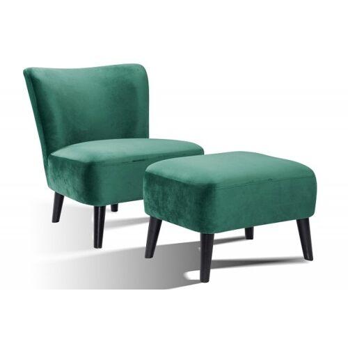 SalesFever Sessel inkl. Sitzhocker Retro Style