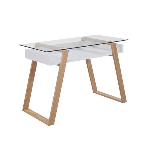 SalesFever Schreibtisch 110 x 55 cm weiß
