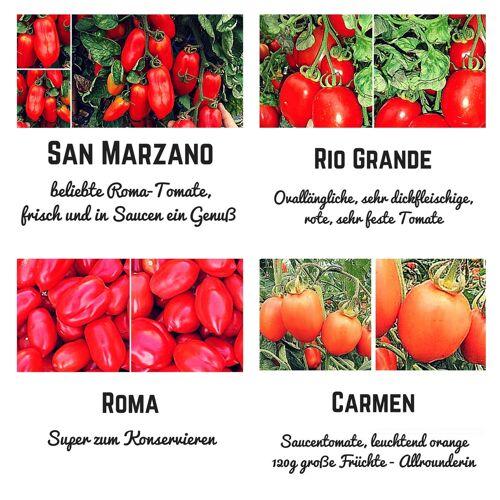 Pepperworld Bio Saat Sortiment- San Marzano Saucentomaten Samen Set