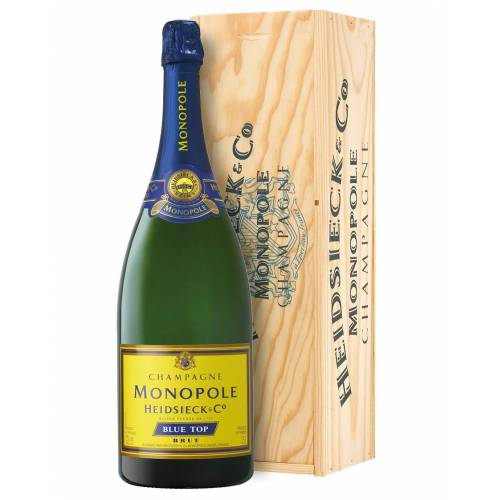 Heidsieck & Co. Monopole Champagne Brut AOC Blue Top Heidsieck & Co. Monopole Magnum 1,5 L, Holzkiste