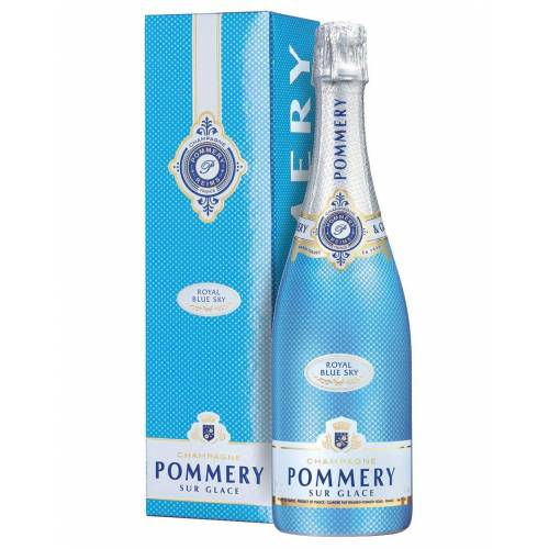 Pommery Champagne Demi-Sec AOC Royal Blue Sky Pommery 0,75 L, Flaschenetui