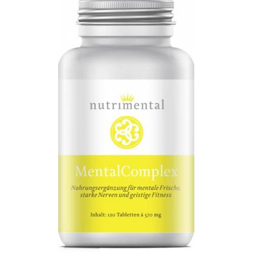 Nutrimental MentalComplex - Sibirischer Ginseng + Ginkgo Biloba - 120 Kapseln