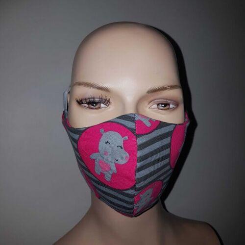 KDG Kindermaske mit Nilpferd - 3 Lagig