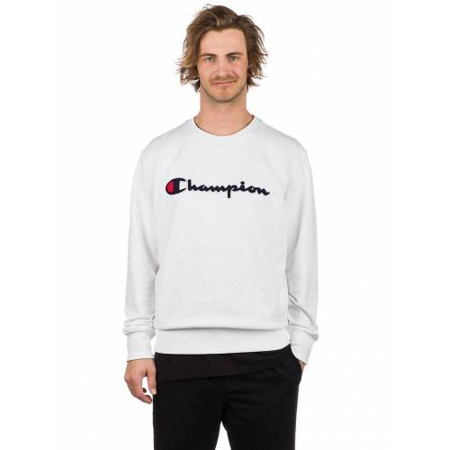 Champion Logo Sweater wht XL