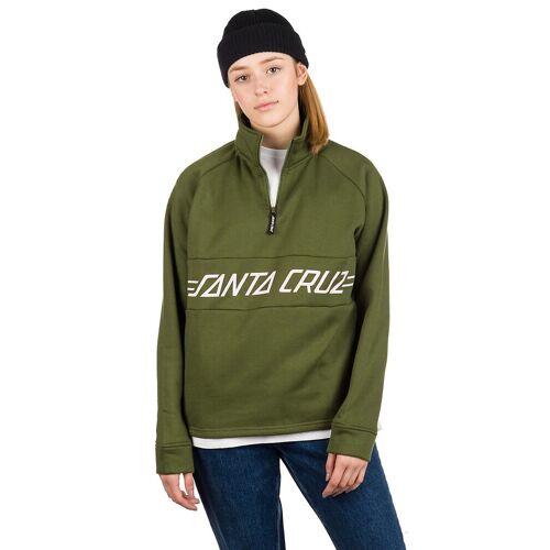 Santa Cruz Pinline 1/4 Zip Crew Sweater military green 6