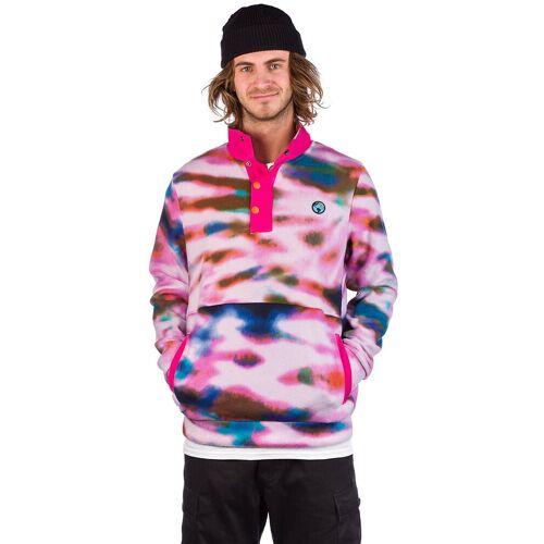 Teenage Tie Dye Polar Fleece Pullover purple L