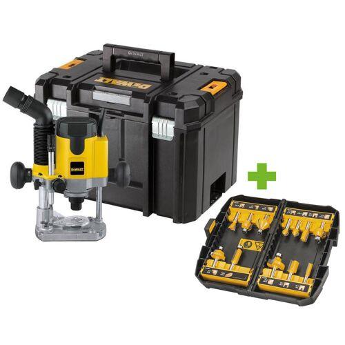 Dewalt DW621KT Oberfräse 1100 Watt im Koffer + DT90016 Fräserset 12 tlg.