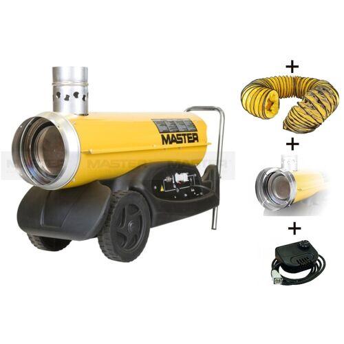 Master BV77E Set Indirekte Ölheizer 21kW + 3 mtr. Schlauch + Adapter + Thermostat