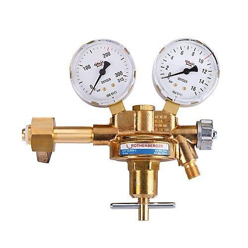 Rothenberger Zubehör Sauerstoff-Druckminderer mit Manometer, 200 bar 35634