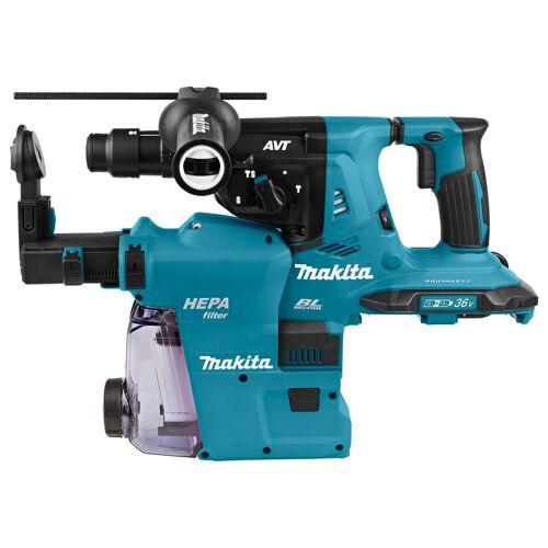 Makita DHR281ZWJ Akku Bohrhammer mit absaugung 3 Funktionen 2 x 18 Volt Ohne akku und Ladegerät