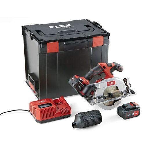 Flex-tools CS 62 18.0-EC/5.0 Set Akku-Handkreissäge mit Pendelhaube 18 Volt 5.0 AH Li-ion