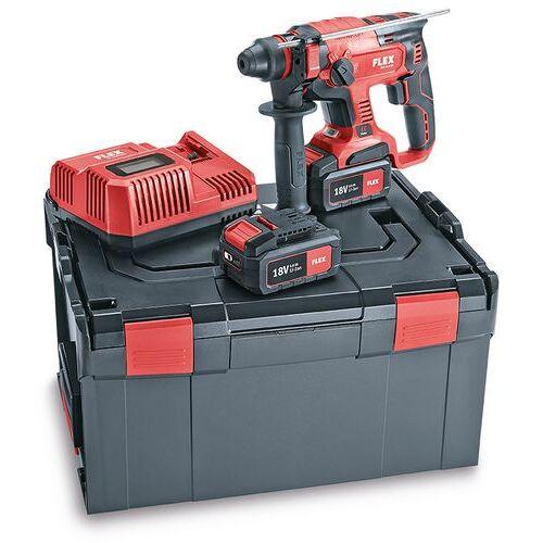 Flex-tools CHE 18.0-EC/5.0 Set, Akku Kombi-Bohrhammer 18 Volt 5.0 Ah Li-ion