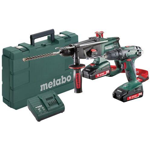 Metabo 685083000 Werkzeugset 2.3.2 18V 2,0Ah Li-Ion - BS18 Akku Bohrmaschine + KHA18LTX Bohrhammer