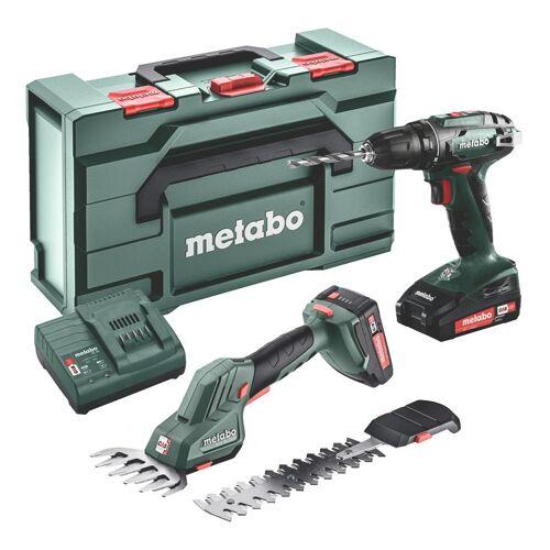 Metabo Comboset 2.2.5 18V 2.0Ah Li-Ion - Akku-Bohrmaschine BS18 + SGS 18 LTX Q Strauch- und Grasschere 685186000