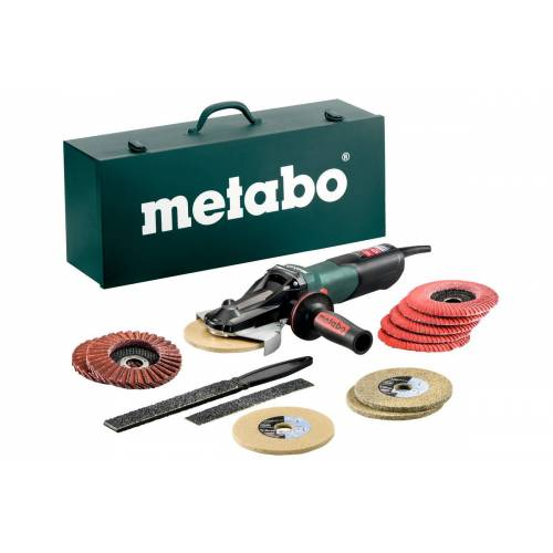 Metabo 613080500 WEVF 10-125 QUICK INOX SET Flachkopf Winkelschleifer 125 mm 1000 Watt