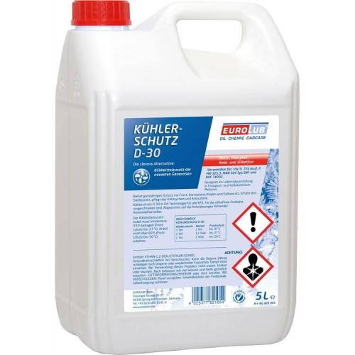 EUROLUB GMBH 5 Liter Eurolub Kühlerfrostschutz D-30 rot