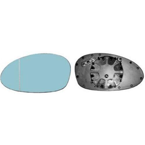 VAN WEZEL Außenspiegelglas links beheizbar blau BMW