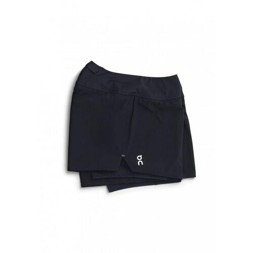 On Running W Running Shorts Black Damen M