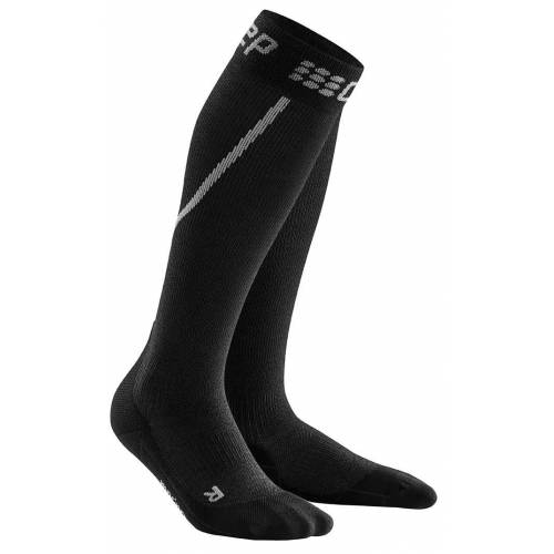 CEP M Winter RUN Socks Grey - Black Herren IV