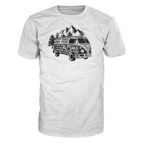 Camper Alprausch M Happy Camper T-Shirt White Herren M