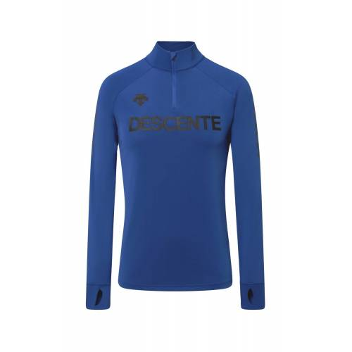 Descente M Descente 1/4 Zip T-Neck Blue Herren 54