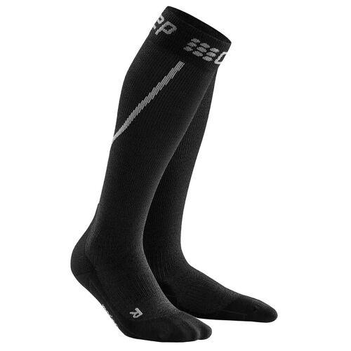 CEP M Winter RUN Socks Grey - Black Herren V