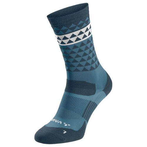 Vaude Bike Socks Mid Blue Gray Unisex 36 - 38