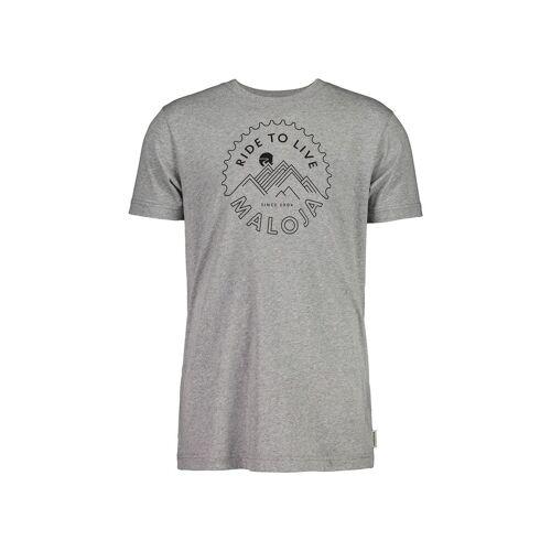 Maloja M Bartolomem. T-Shirt Grey Melange Herren S