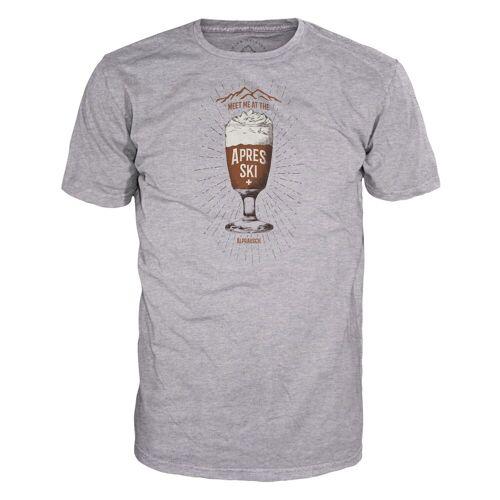 Alprausch M Kafi Schnaps T-Shirt Grey Melange Herren S