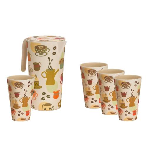 Vango Bamboo Pitcher and 4 Cups