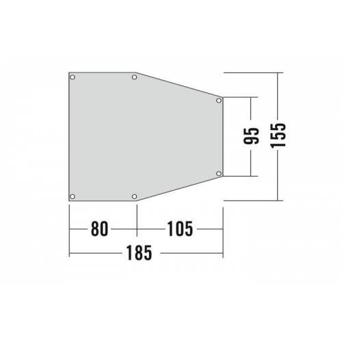 Tatonka Apsidenunterlage 2 Grey Unisex One Size