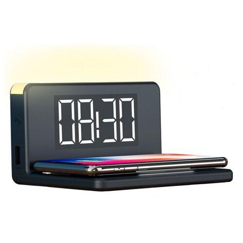 KSIX Alarm Clock with Wireless Charger KSIX Qi Black