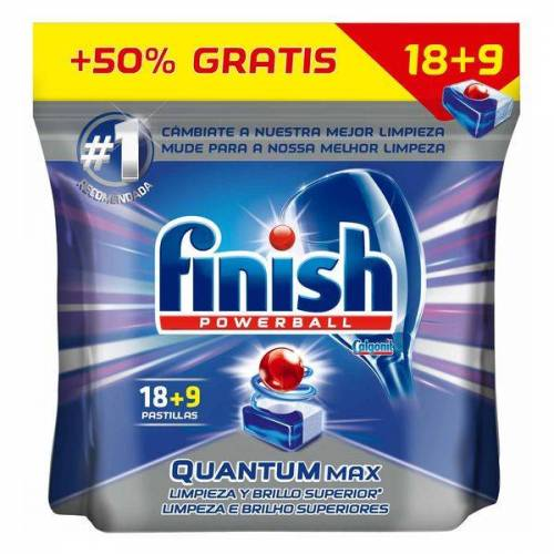 Finish Finish Quantum Regular Dishwasher Tablets (27 Washes)